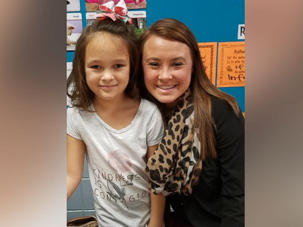 PHOTO: Abby Henderson, an 8-year-old second grader at Southview Primary School, with her teacher, Tori Gooden.
