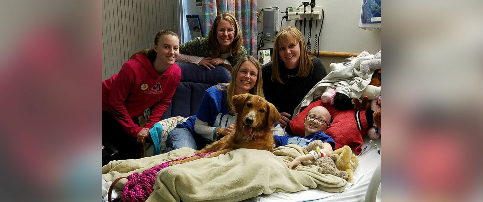 "PHOTO: Brooke Mulford was granted wish of seeing inspiration film ""A Dogs Purpose"" and even got a visit from screenwriter Cathryn Michon and the films star dog, Trip."