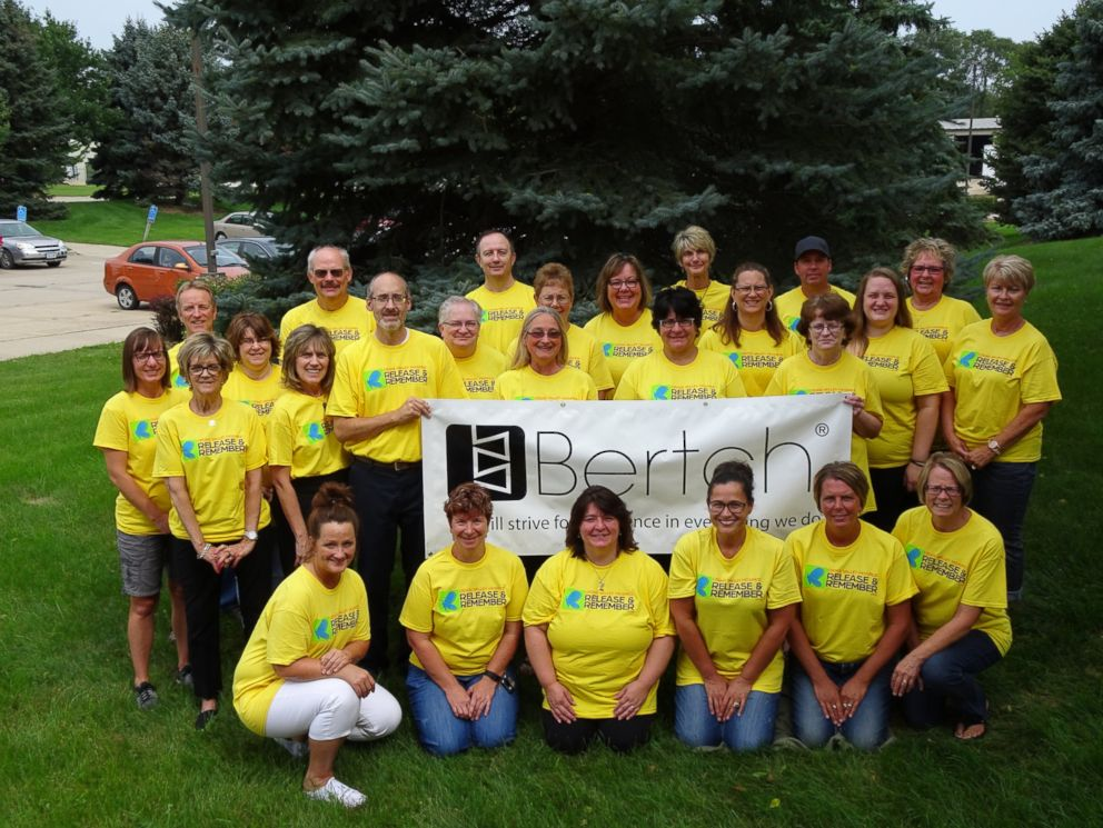 PHOTO: A smaller group of Bertch Cabinets employees are pictured together here.