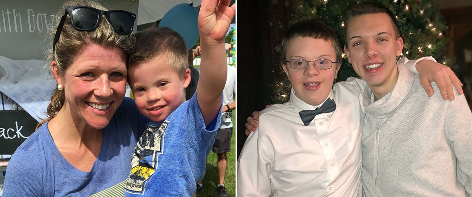 PHOTO: Carissa Carroll, left, of Shoreview, Minnesota, photographed with her son Jack and seen right, Jordan Witt, 18 of Little Falls, Minnesota, pictured with his brother, Logan Witt, 14, in an undated photos.