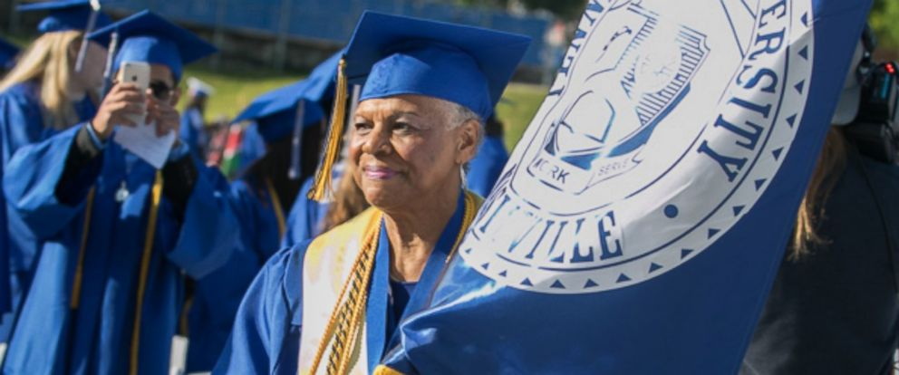 PHOTO: Tennessee State University graduate Darlene Mullins at her graduation ceremony on May 6, 2017.