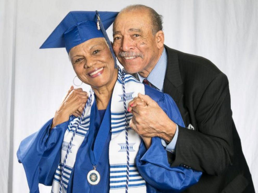 PHOTO: Tennessee State University graduate Darlene Mullins with her husband of 53 years, John Mullins.