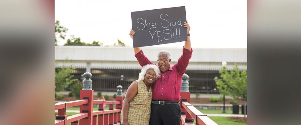 PHOTO: Lucinda Myers, 67, and Murphy Wilson, 70, plan to wed on July 29, 2017.