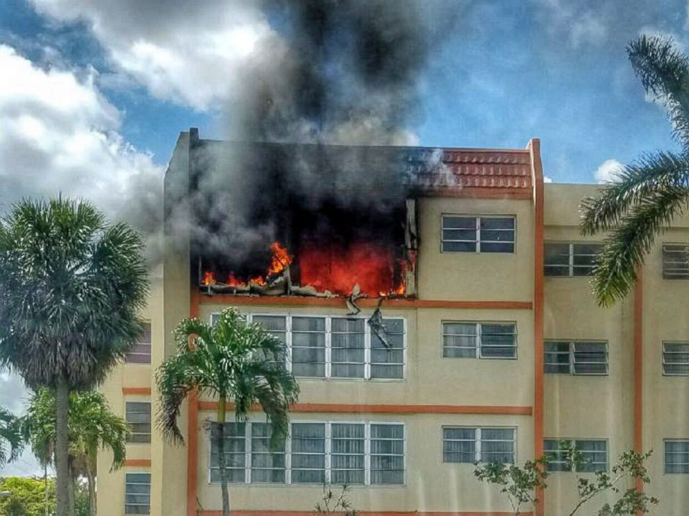 PHOTO: A fire that engulfed the fourth floor of an apartment building in Lauderhill, Fla. is still under investigation by the Lauderhill Fire Department.