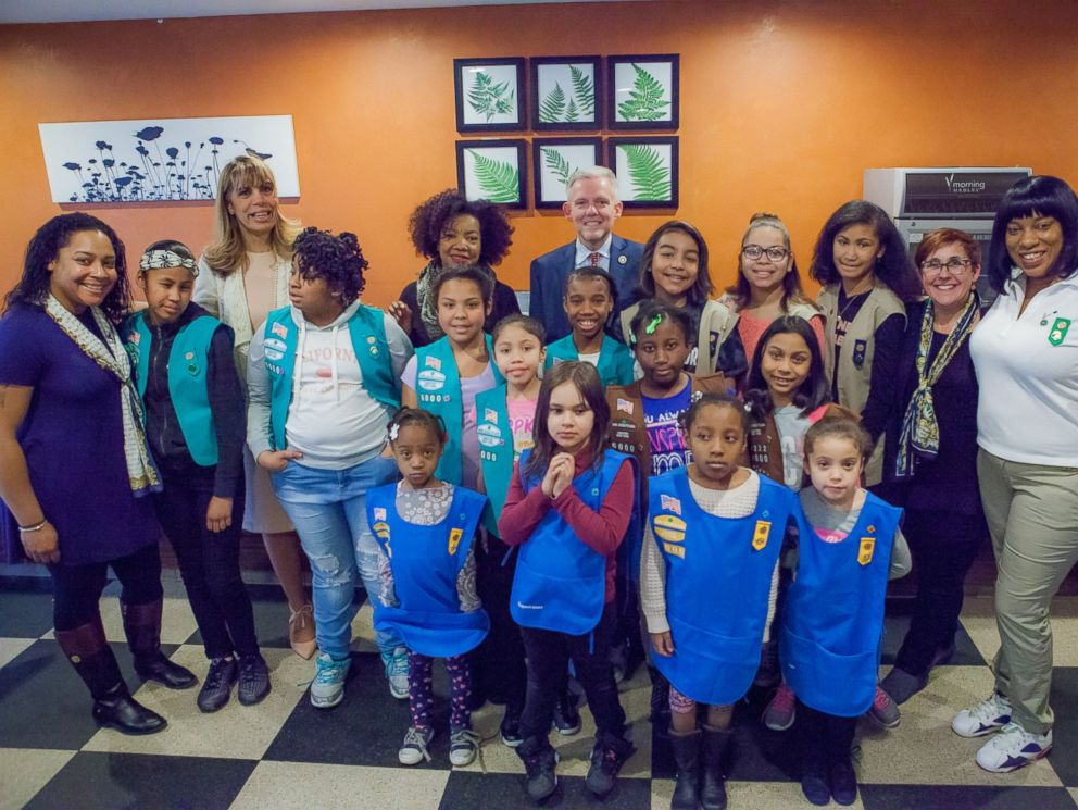 PHOTO: Girl Scout Troop 6000 is the first single unit troop that services homeless girls and women in the New York area.