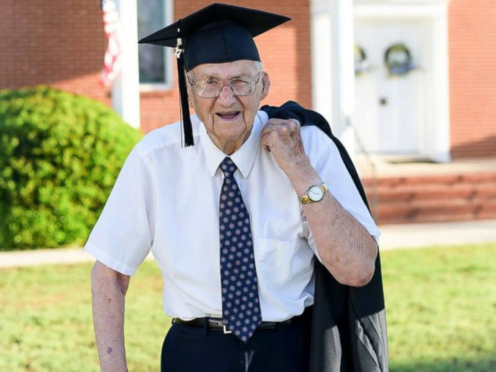 PHOTO: Horace Sheffield, 88, of Barnesville, Georgia, graduated from Shorter University with his Bachelors of Science in Christian Studies.