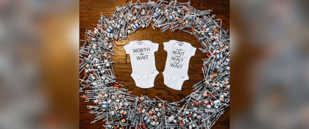 PHOTO: After two years of struggling with infertility, Lauren and Garyt Walker are welcoming twins in August.