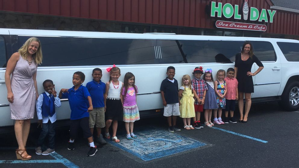 PHOTO: Two kindergarten classes in the Beverly City, N.J. School District were treated to a day of living like millionaires to celebrate learning