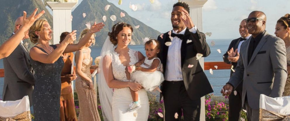 PHOTO: Tennessee Titan cornerback Logan Ryan and his wife Ashley Bragg Ryan asked their wedding guests to donate to Help Animal Welfare in Saint Lucia instead of giving wedding gifts.