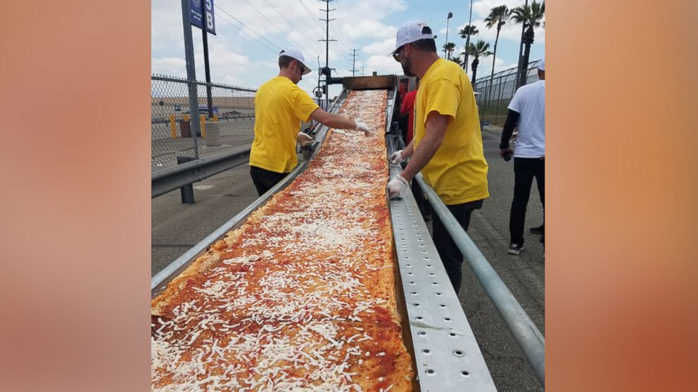 PHOTO: The longest pizza measures 6,333 feet according to Guinness World Records.
