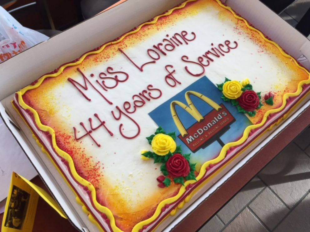 94-year-old woman honored for 44 years working at McDonalds