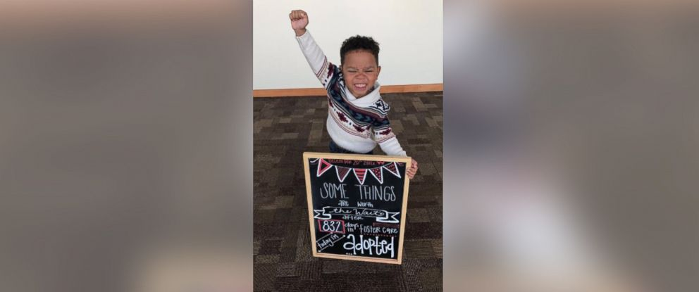 PHOTO: Three-year-old Michael Browns adoption photo exudes joy.