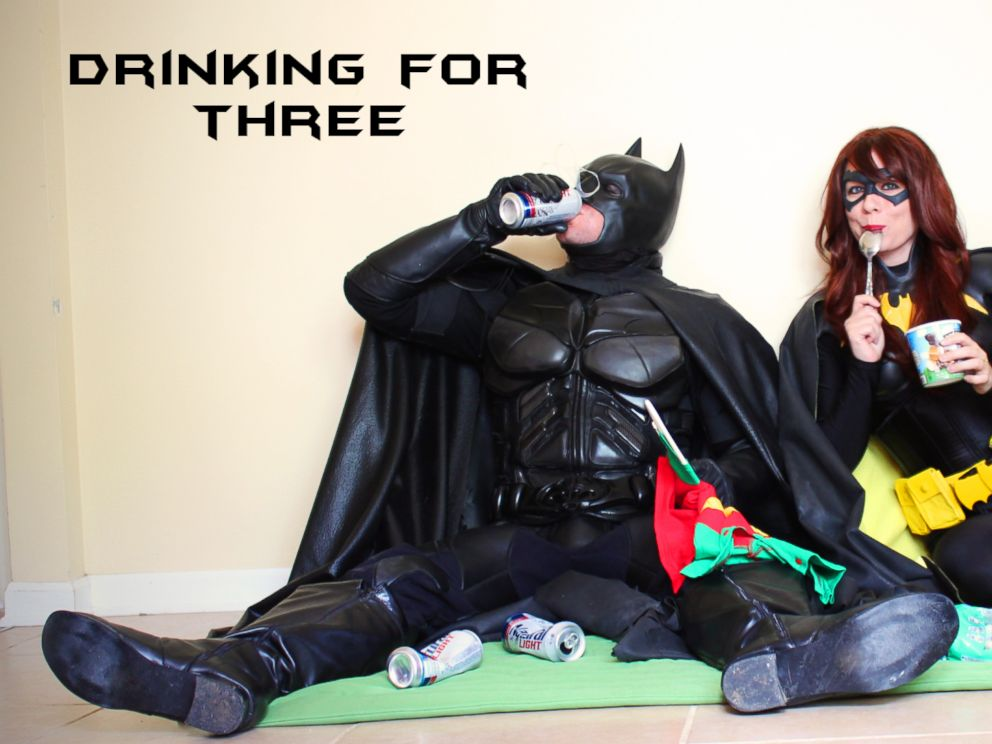 PHOTO: James and Alisha Doherty, of Nashville, wore costumes for a super hero-themed pregnancy announcement.