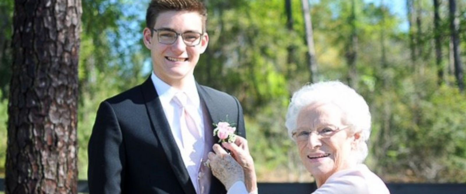 high school junior takes his year old grandmother to prom abc photo connor campbell a junior from summerville south carolina took his grandmother