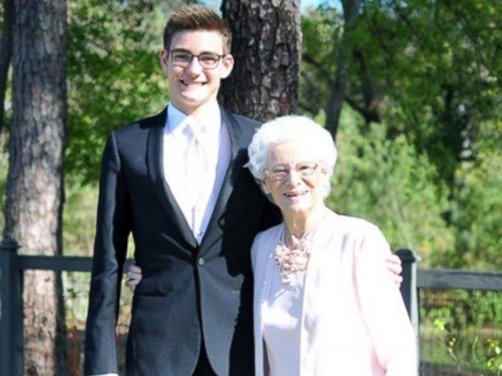 PHOTO: Connor Campbell, a junior from Summerville, South Carolina, took his grandmother, Betty Jane Keene, as his prom date.