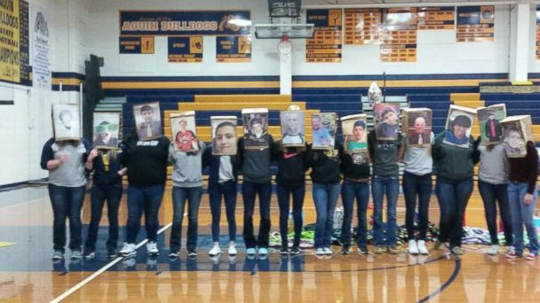 PHOTO: Students at Aquin Catholic High School choose their prom dates through a random lottery and celebrate with a series of skits.