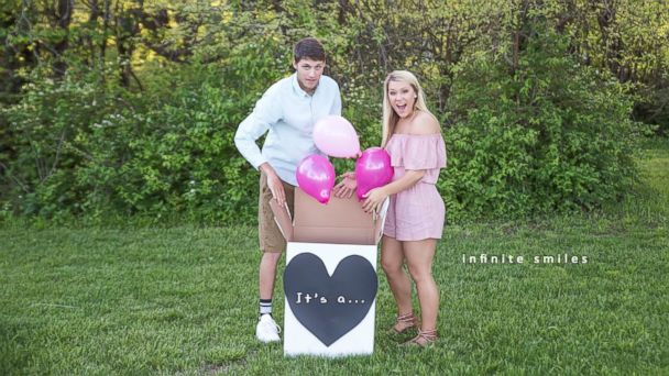 PHOTO: Kennedy Sartwell and Jake Terry announced their new puppy with a paw-dorable sex reveal photo shoot.