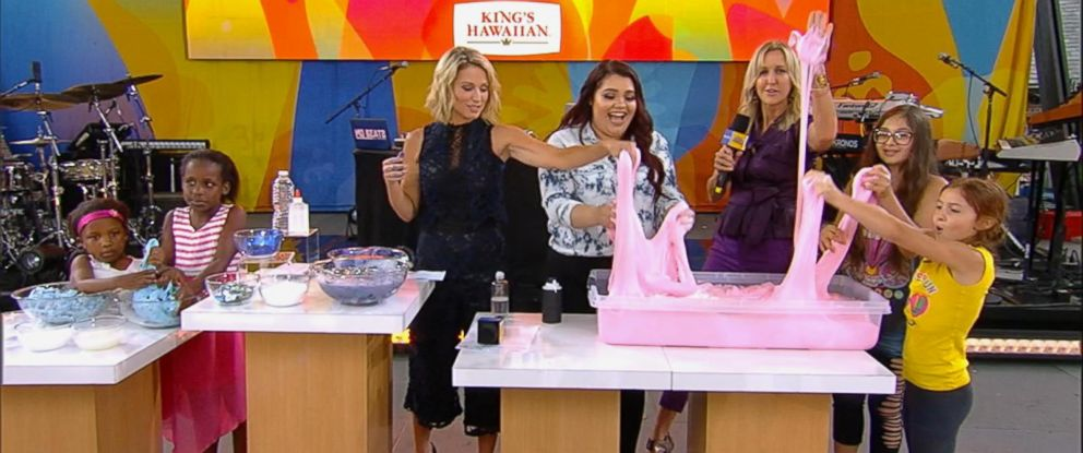 "PHOTO: YouTube star Karina Garcia shares slime-making tips live on ""good Morning America,"" July 7, 2017."