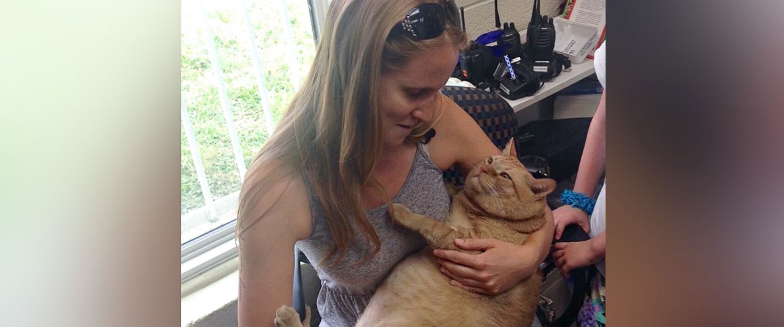 PHOTO: Symba the 35-pound cat has been adopted by Kiah Berkeley and Peter Sorkin of Mount Rainier, Maryland.