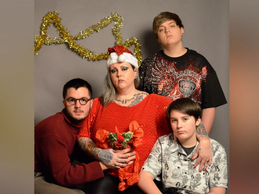 photo josh brassow 25 poses with strangers for a christmas card he staged