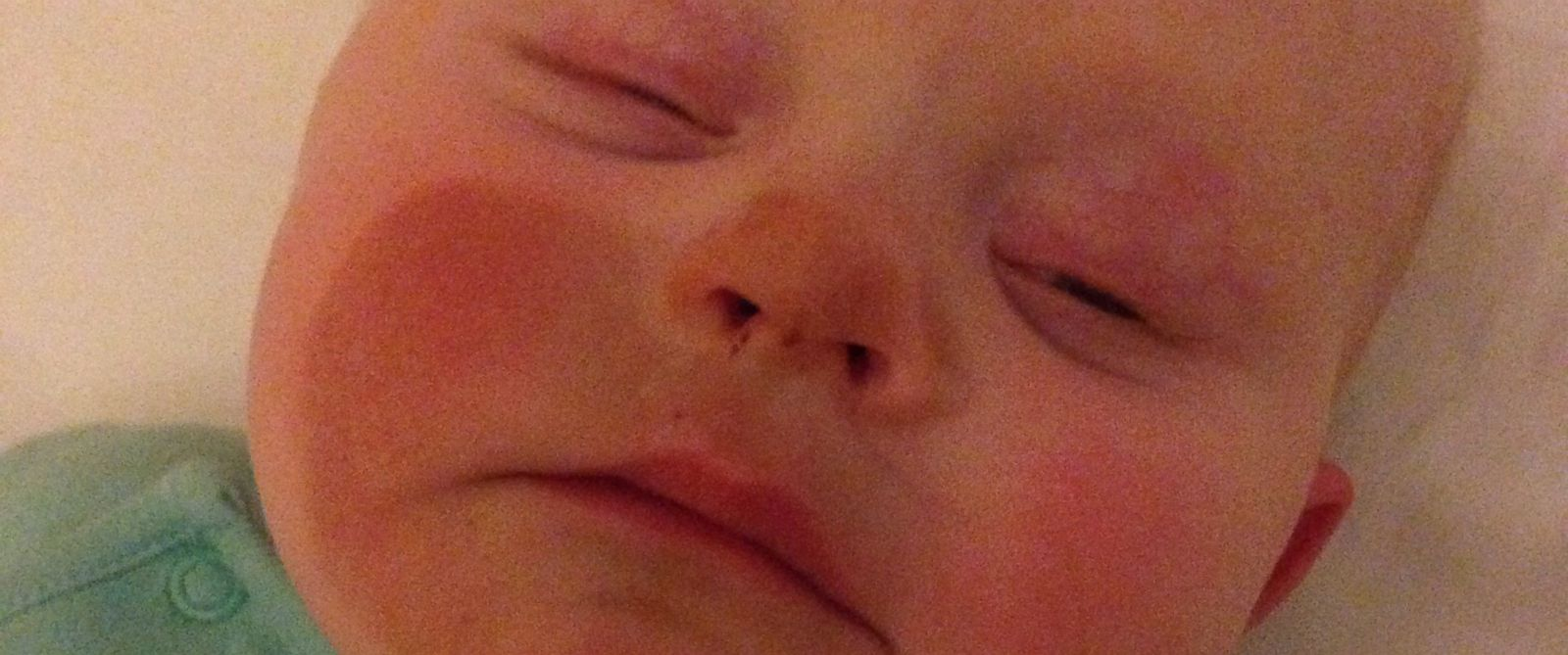 PHOTO:Gemma Colley posted this photo of her son after she breastfed him after a spray tan.
