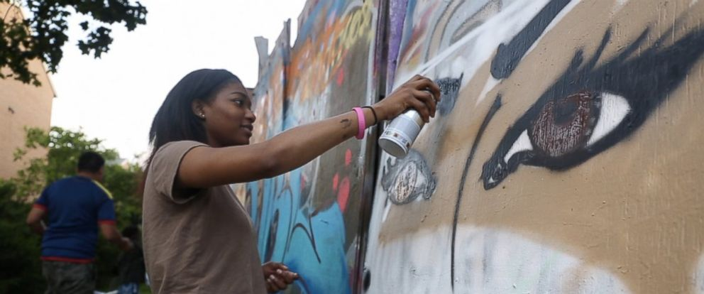 PHOTO: The street art mentor program, MuralsDC, is funded by the DC Department of Public Works, the same department in charge of cleaning up illegal graffiti around town.