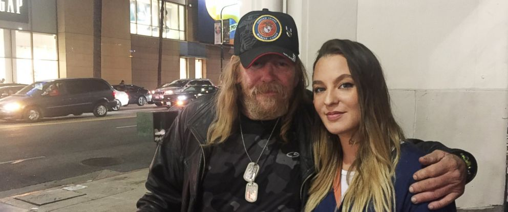 PHOTO: Dana Lee Calabrese Los Angeles, California met Douglas Dean Hall, a homeless man, in Hollywood, California on April 30 for the first time.