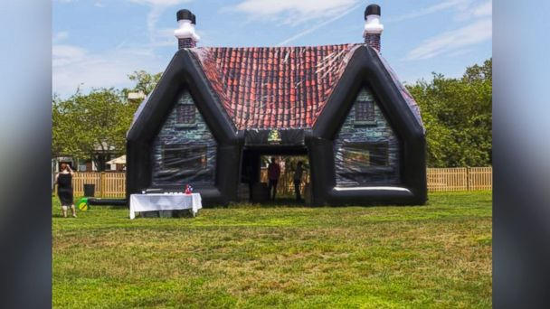 PHOTO: Paddy Wagon inflatable Irish pubs take the backyard barbeque to a new level.