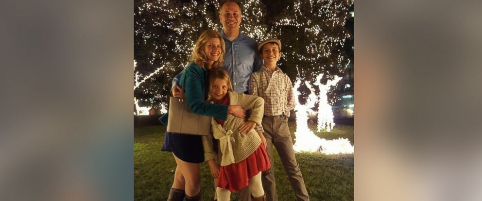 PHOTO:Laura Goodman of Richmond, Virginia photographed with her husband Taylor, son Charlie, 11, and daughter Madeline, 8.