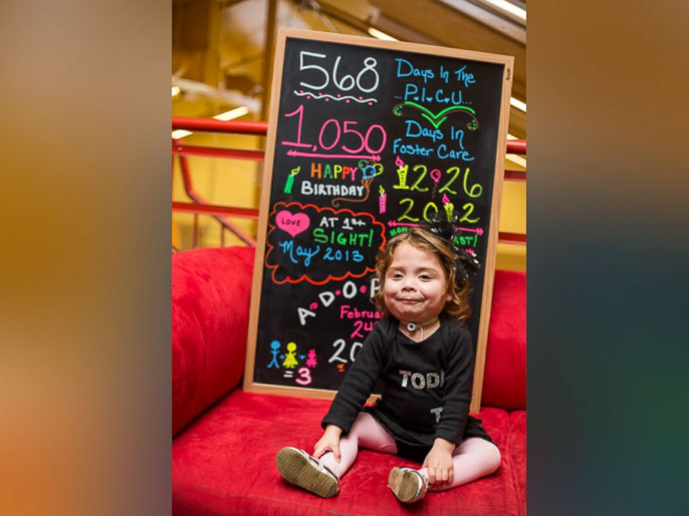 PHOTO: Nicole Boyd, 3, was adopted on Feb. 24 by her nurse Amber Boyd after spending over a year in the University of New Mexico Hospital in Albuquerque.