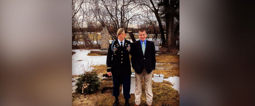 PHOTO: Lt. Col. Robert Risdon (on left) is seen in this undated photo with his son Carson Risdon (on right).