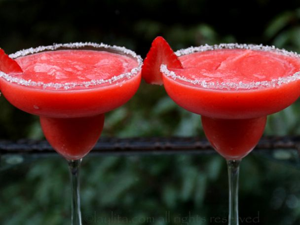 PHOTO: The Laylita blog created a strawberry margarita recipe, pictured here.