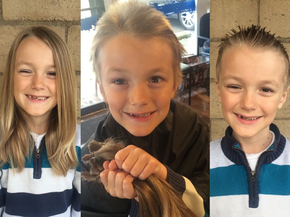 7 year old who gave hair for kids cancer wigs has stage 4 tumor photo vinny donated his to kids with cancer after growing it out for over a pmusecretfo Image collections