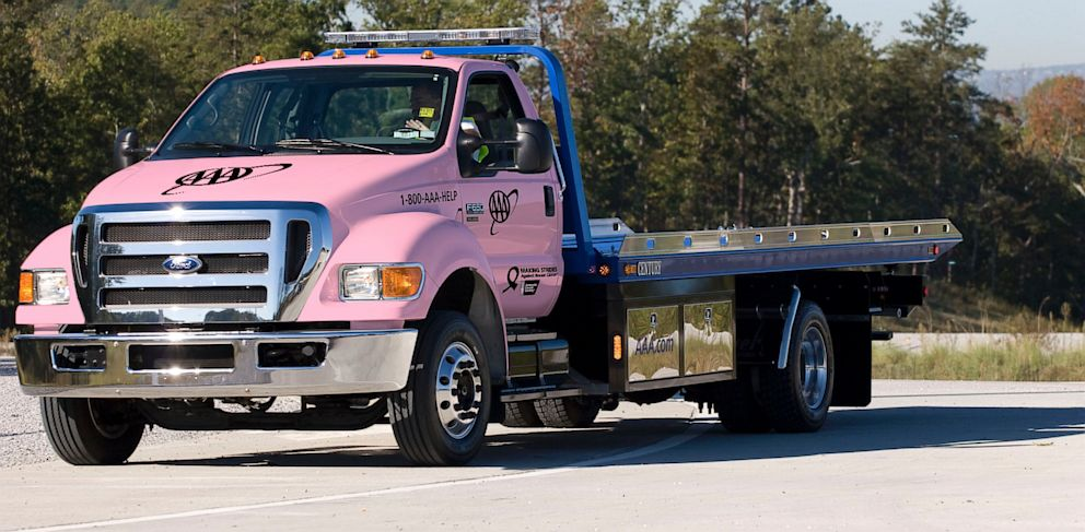 PHOTO: AAA Pink Tow Truck