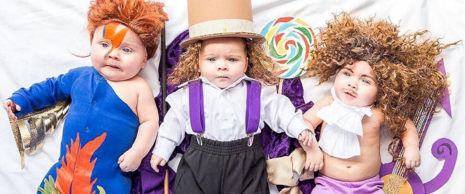 "PHOTO: Mom dresses up her ""Sweet PEA"" triplets in epic DIY Halloween costumes."
