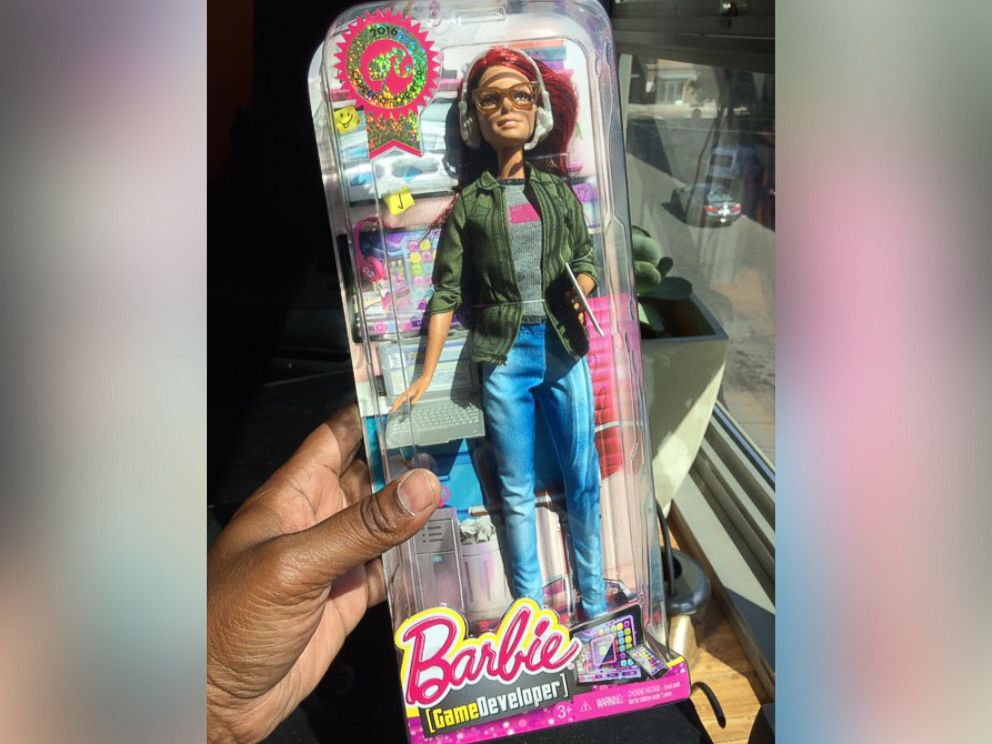 PHOTO: When Marcus Montgomerys wife Lisette could only find the Game Developer Barbie in one skin tone, he made his own to gift her.