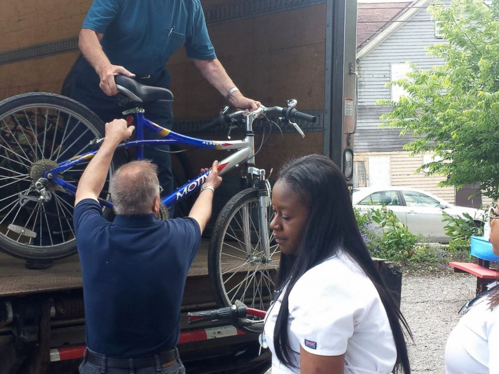 PHOTO: Donors bring in more bikes to replace those stolen from Conkey Cruisers.