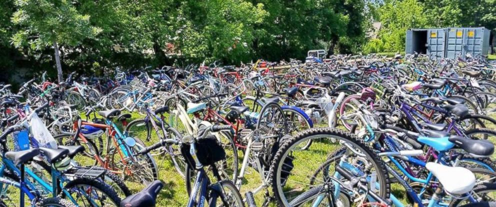 PHOTO: When Conkey Cruisers, a neighborhood bike program, had bikes stolen, the community donated three times as many bikes back to them.