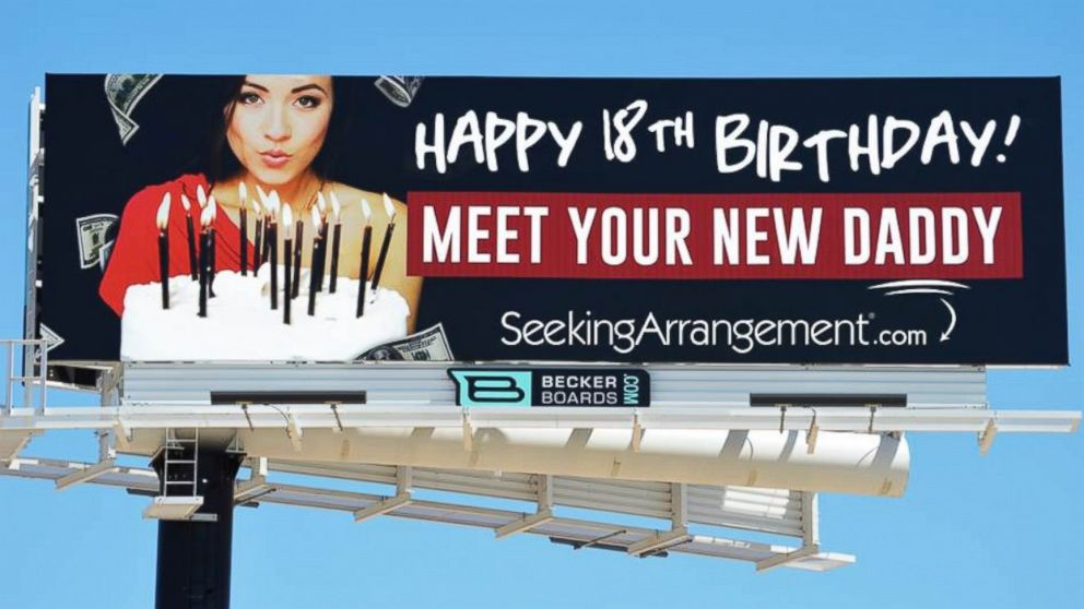 """PHOTO: SeekingArrangement.com is using billboards to help men """"connect with young women whose dads can't help them financially."""""""