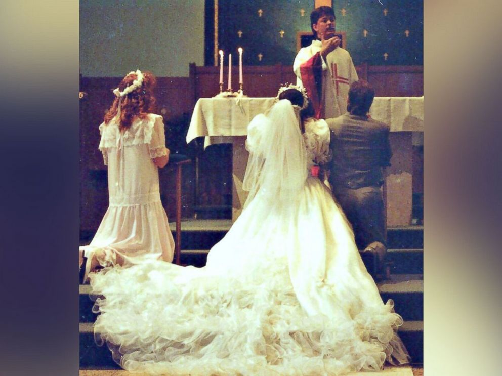 Her 1980s wedding dress into fluffy christmas tree skirt abc news