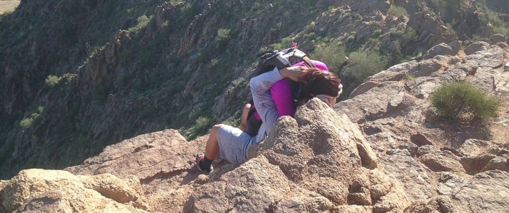 PHOTO: Marco Malimban of Queen Creek, Arizona, snapped a photo of a woman being rescued from falling off Camelback Mountain in Phoenix on Feb. 27.