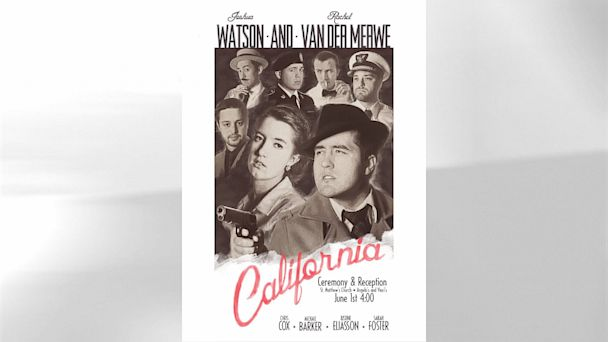 HT casablanca poster gray nt 130729 16x9 608 Couple Creates Silver Screen Themed Wedding Posters