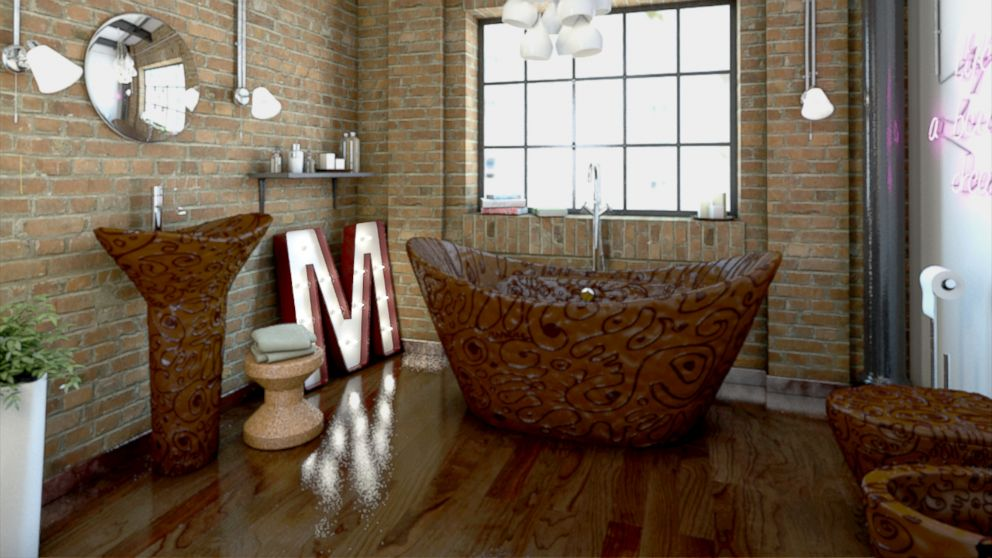 PHOTO: This entire bathroom is made of chocolate and available for purchase.