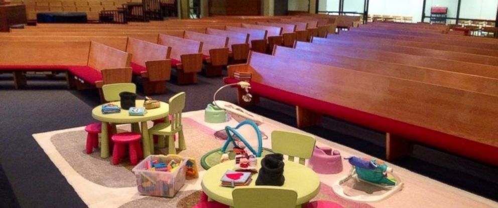 PHOTO: One church in Minnesota has a creative way to keep kids occupied during services: a prayground.