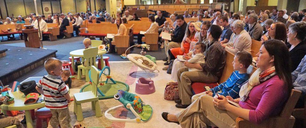 "PHOTO: One church in Minnesota has a creative way to keep kids occupied during services: a ""prayground."""