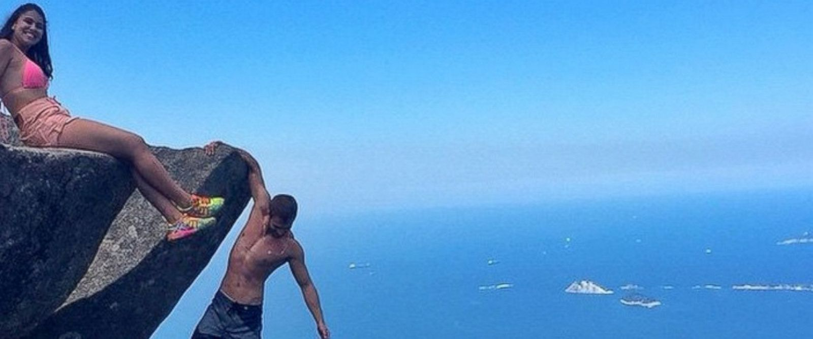 PHOTO: Among their many other excursions, the two dangled off an almost 3,000-foot cliff.