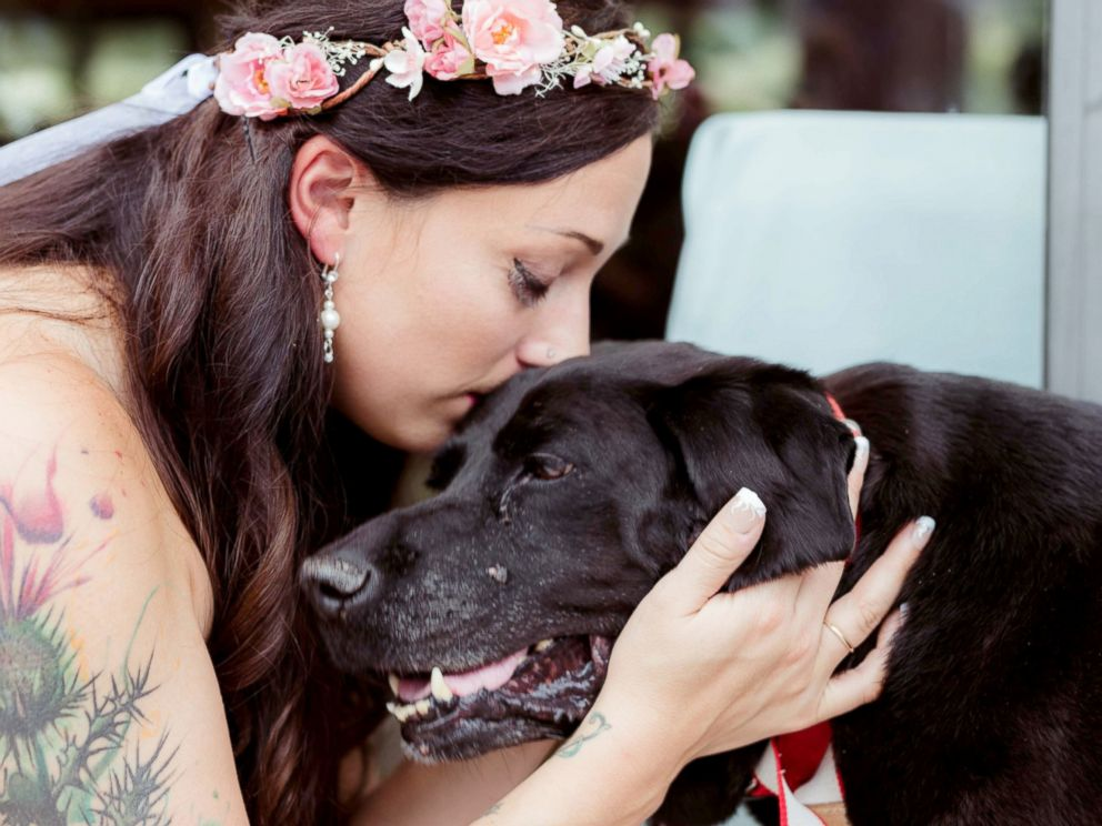 Maid of Honor Carries Family's Dying Dog Down Aisle for Couple