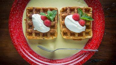 PHOTO: Eggnog waffles.