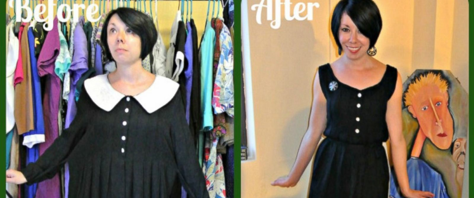 PHOTO: On ReFashionista.net, Jillian Owens shows how to breathe new life into dated thrift store duds.