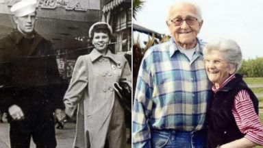 PHOTO: Floyd and Violet Hartwig died hand-in-hand after 67 years of marriage.